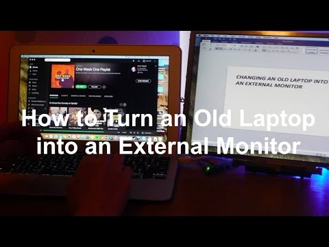 How to turn your Old Laptop into an External Monitor for under $25