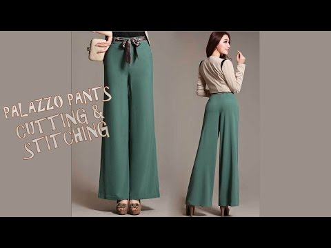 Palazzo Pants Cutting and Stitching with pattern
