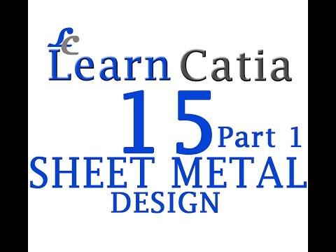 Learn catia V5 Tutorials for beginners  Sheet Metal Design   Sheet Metal Parameters   Walls   Part 1
