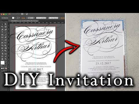 How to create an Invitation in Illustrator from start to finish | DIY Modern Wedding Invitations