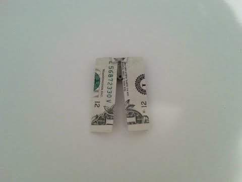 How to Make Dollar Bill Pants - Origami - (Easy)