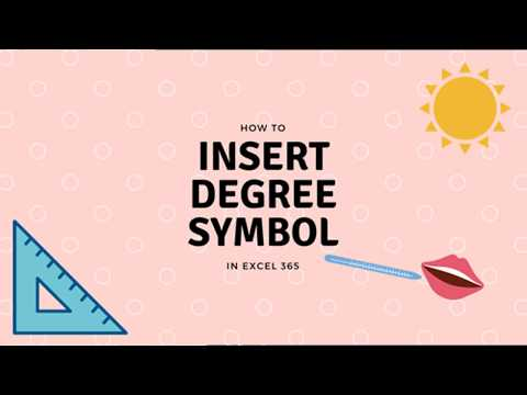 Excel tip# 2 - How to insert degree symbol