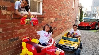 Download Restaurant Drive Thru play & Ride On Car for Kids Video