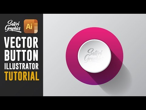 How To Make Illustrator Vector Buttons | Illustrator Vector Tutorial