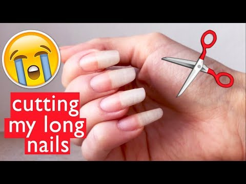 Cutting my long nails... RIP