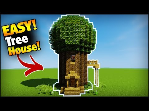 Minecraft: How To Build A Tree House/Base (EASY TUTORIAL)