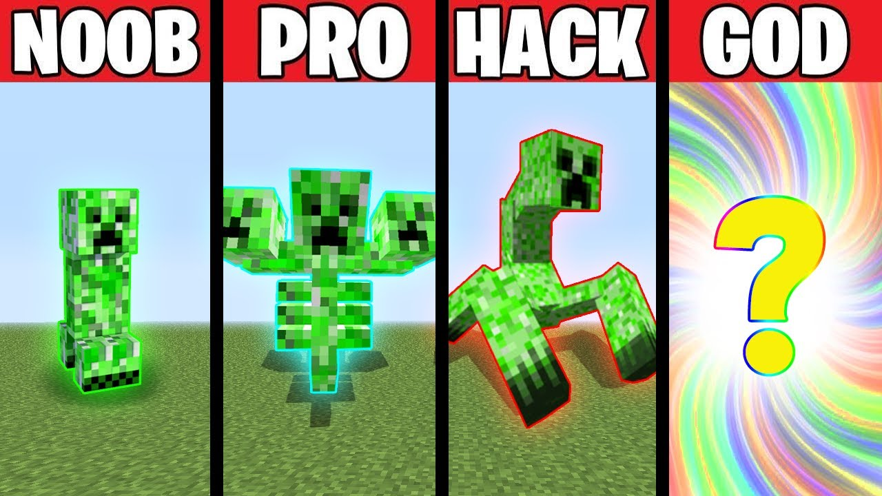 CREEPER MUTANT EVOLUTION! NOOB vs PRO vs HACKER vs GOD in Minecraft Animation