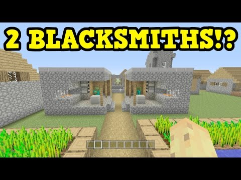 Minecraft CORRECTION - How To Get 2 Blacksmiths In 1 Village