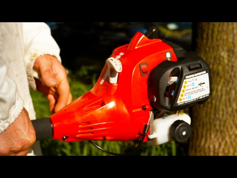 Weed Whacker In 4K Slow Motion - A Different Look At How A String Trimmer Works