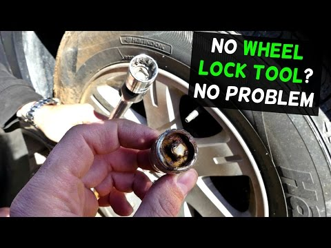 HOW TO REMOVE WHEEL LOCKS WITHOUT A KEY