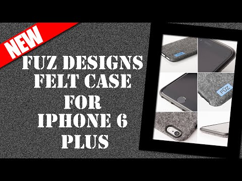 Felt Case for iPhone 6 Plus - Fuz Designs - Kickstarter - iPhone Case Review