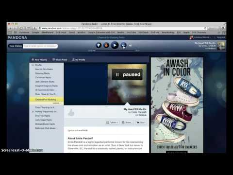 Pandora Tutorial - How to Register for an Account and Use Pandora Features