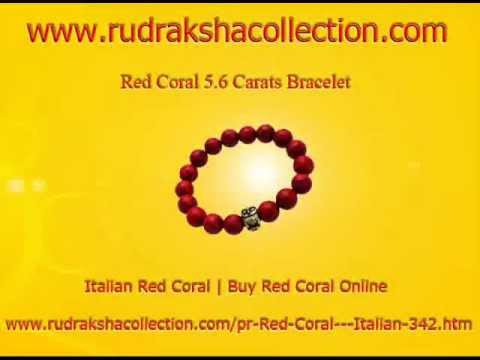Red Coral gemstone  good fortune in life, prosperity in business