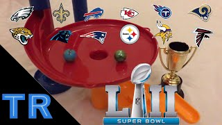 NFL Playoffs 2018 Marble Race Tournament - Who Will Win the Super Bowl? | Toy Racing