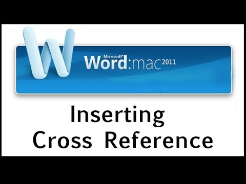 How to Insert a Cross Reference in Word 2011 for Mac