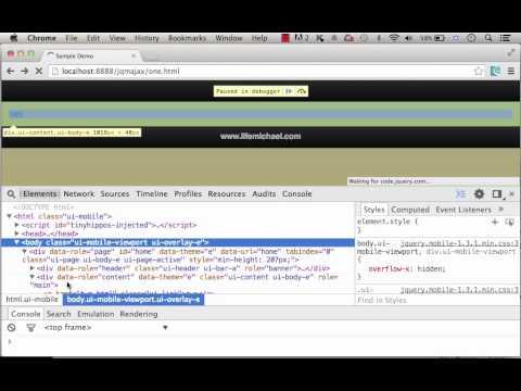 jQueryMobile External Links