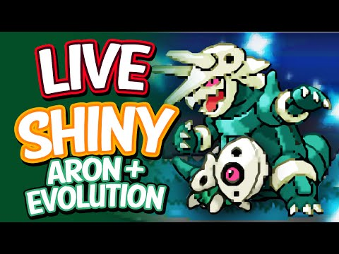 Live Shiny Aron - PokeRadar Chain Of 41 + Evolution! - Pokemon Platinum
