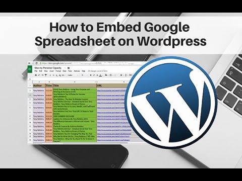 How to Embed Google Spreadsheet on Wordpress