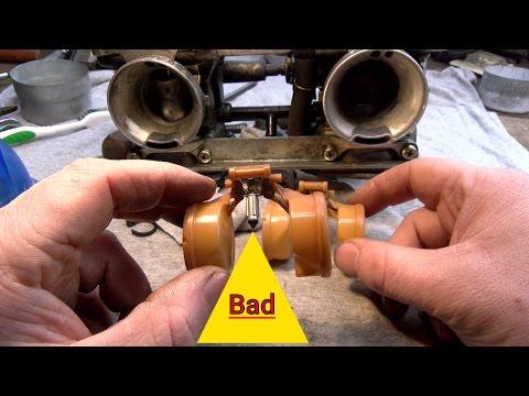 Inspecting Kawasaki en450 ltd 454 Keihin Carburetor Float Valve Needle Replacement Cost 30 Dollars