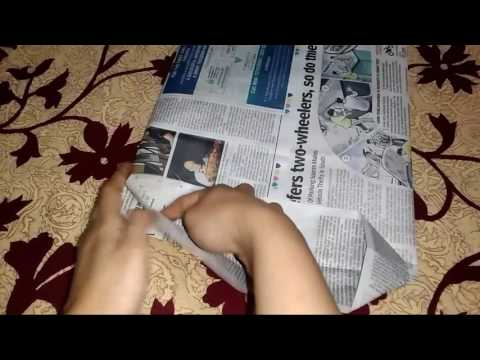 How To Make A Newspaper bag Out Of Wastage || Newspaper Bag