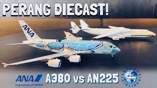 Download ANA Airbus A380 vs Antonov AN-225   Unboxing & Review Perbandingan Diecast Skala 1:400! Video