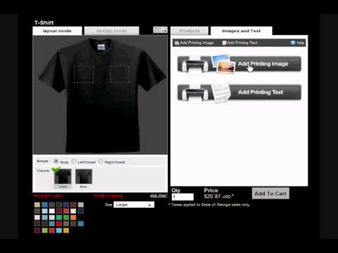 Custom T Shirt Online Design tool  - How to