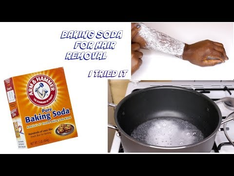 USE BAKING SODA FOR HAIR REMOVAL?? #itriedit
