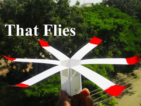How to make a paper helicopter - 360 degree rotating
