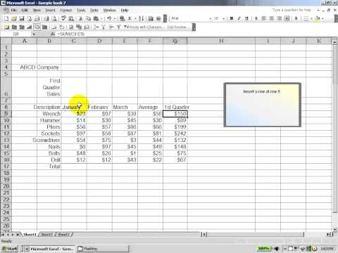 Excel 2003:  How to score well on an excel assessment test