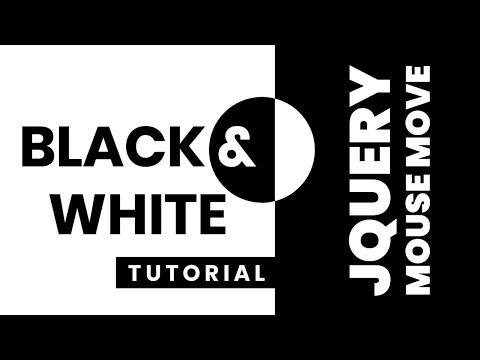 Black and White Text CSS Effects   jQuery Mousemove Event