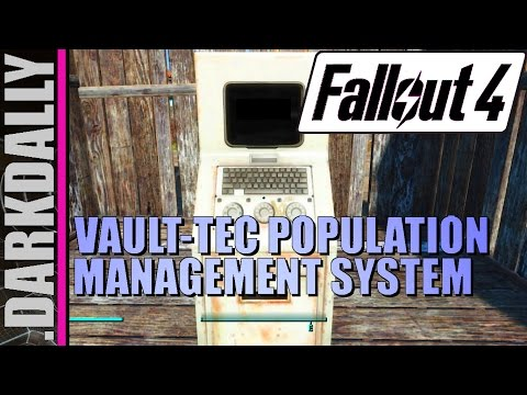 Fallout 4 - How to Use the Vault-Tec Population Management System