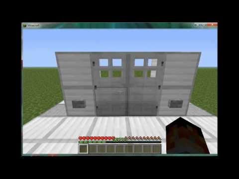 How To: Minecraft - How to make both iron door open at the same time