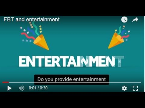 FBT and entertainment