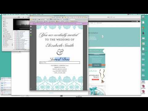 How to Make Your Own Wedding Invitation (Free Template Tutorial)