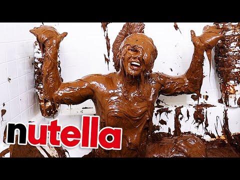 Filled My Bathtub With Nutella!