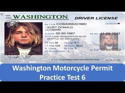Washington Motorcycle Permit Practice Test 6