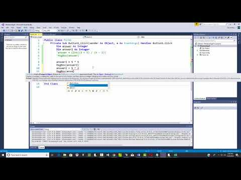 Visual Basic Programming - Order of Operations and Math Operators