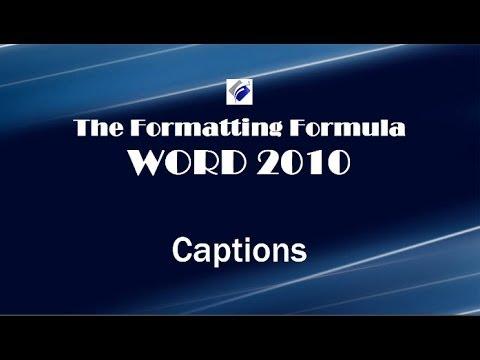 Word 2013 Captions