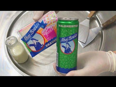 Fizzy Sherbet Powder - Ice Cream Rolls | how to make fizzy sherbet Ice Cream with Frigeo Ahoj Brause