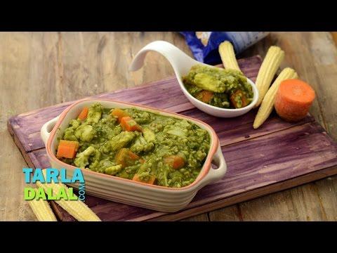 Healthy Green Curry | Pregnancy & Iron Rich Recipe | by Tarla Dalal