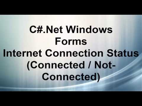 C# checking Internet connection Connected/ NotConnected