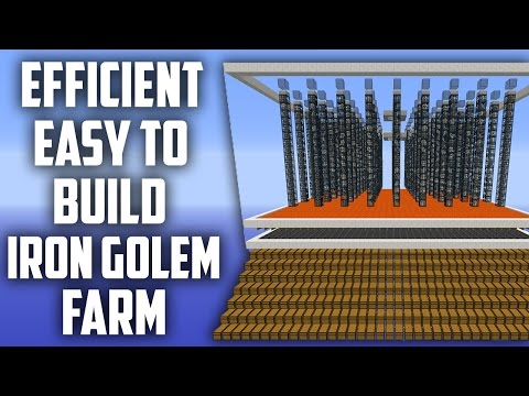Simple Iron Golem Farm - Efficient & Easy to Build [Faction Spawner Tutorial]