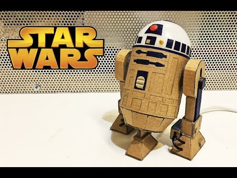 How to make R2D2 Droid from cardboard\Star Wars glowing toy DIY