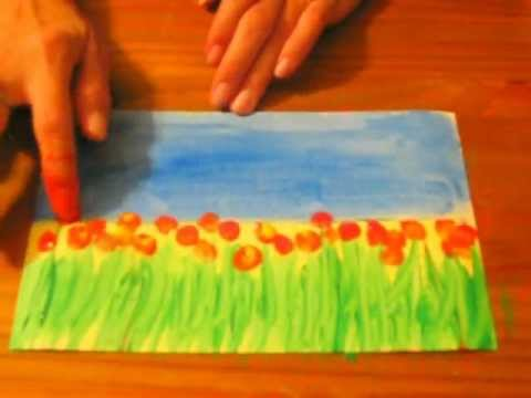 Field of Flowers: A Preschool/Early Elementary Painting Lesson
