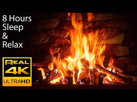 8 HOURS 🔥 The Best 4K Relaxing Fireplace with Crackling Fire Sounds No Music 4k UHD TV Screensaver