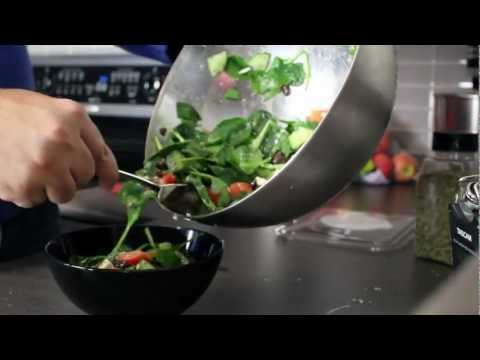 Super Easy Greek Salad Recipe with Spinach