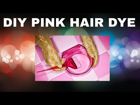 DIY pink hair dye made out of crayola markers
