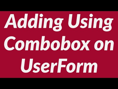 Adding and using a combobox on a userform in MS-Excel