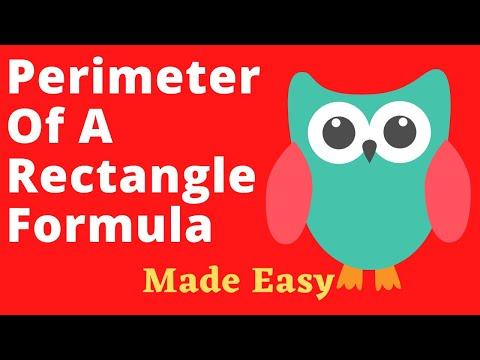 Perimeter Of A Rectangle Formula Made Easy