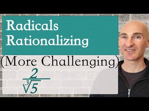 Radicals Rationalizing (More Challenging)